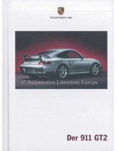 2003 PORSCHE 911 GT2 HARDBACK BROCHURE GERMAN