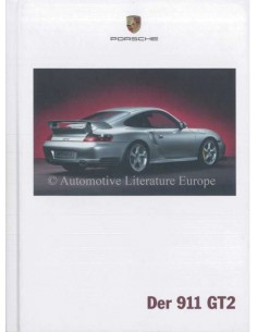 2003 PORSCHE 911 GT2 HARDCOVER PROSPEKT DEUTSCH