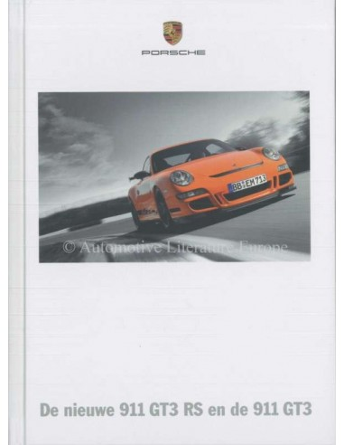 2007 PORSCHE 911 GT3 + RS HARDCOVER BROCHURE DUTCH