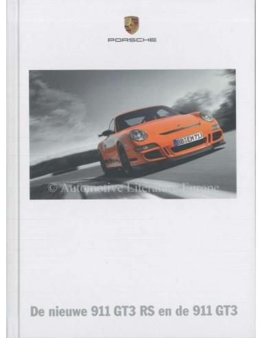 2007 PORSCHE 911 GT3 + RS HARDCOVER PROSPEKT NIEDERLÄNDISCH