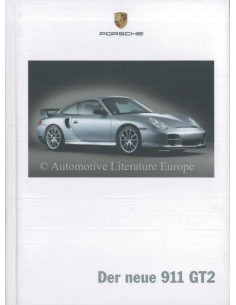 2004 PORSCHE 911 GT2 HARDCOVER PROSPEKT DEUTSCH