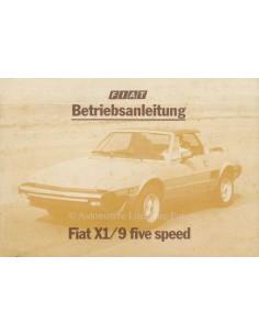 1980 FIAT X1/9 BETRIEBSANLEITUNG DEUTSCH