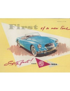 1956 MG MGA BROCHURE ENGLISH