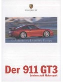 1999 PORSCHE 911 GT3 BROCHURE DUITS