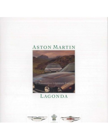 1986 ASTON MARTIN LAGONDA BROCHURE ENGLISH
