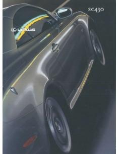 2001 LEXUS SC430 BROCHURE NEDERLANDS