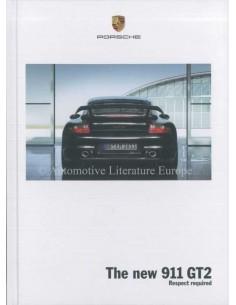 2008 PORSCHE 911 GT2 HARDCOVER PROSPEKT ENGLISCH