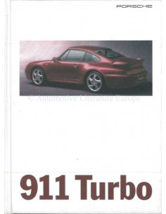 1995 PORSCHE 911 TURBO HARDBACK BROCHURE GERMAN