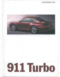 1995 PORSCHE 911 TURBO HARDCOVER PROSPEKT DEUTSCH