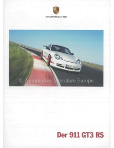 2004 PORSCHE 911 GT3 RS BROCHURE GERMAN