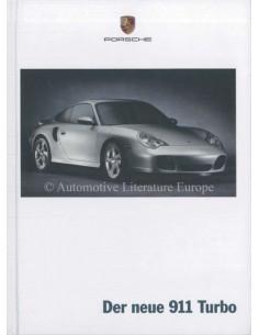 2000 PORSCHE 911 TURBO HARDBACK BROCHURE GERMAN