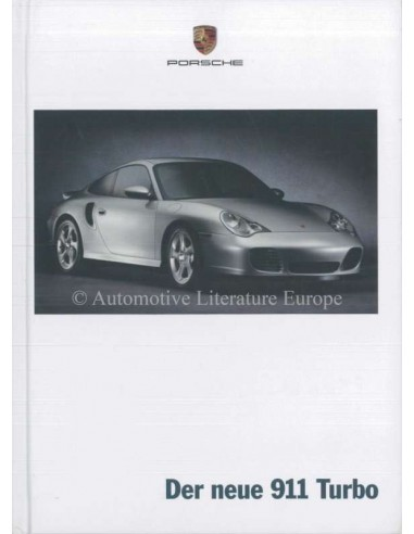 2000 PORSCHE 911 TURBO HARDBACK BROCHURE GERMAN