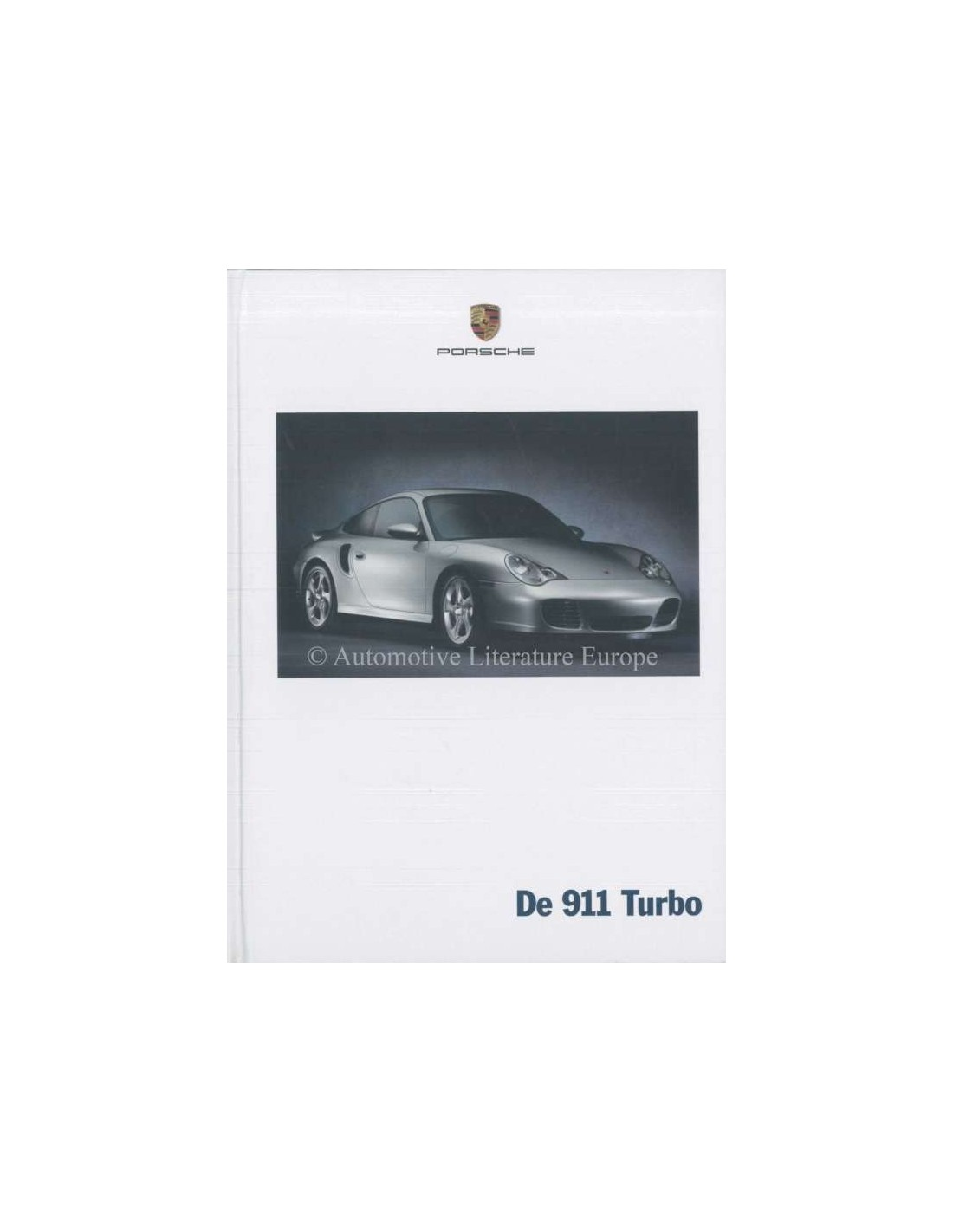 2002 Porsche 911 Turbo Hardback Brochure Dutch