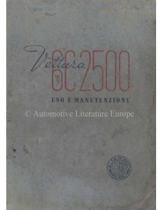 1957 ALFA ROMEO AUTOTUTTO BENZIN BETRIEBSANLEITUNG ITALIENISCH