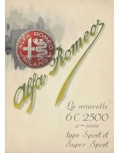 1947 ALFA ROMEO 6C SPORT & SUPER SPORT BROCHURE FRENCH