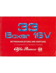 1990 ALFA ROMEO 33 BOXER 16V BETRIEBSANLEITUNG DEUTSCH