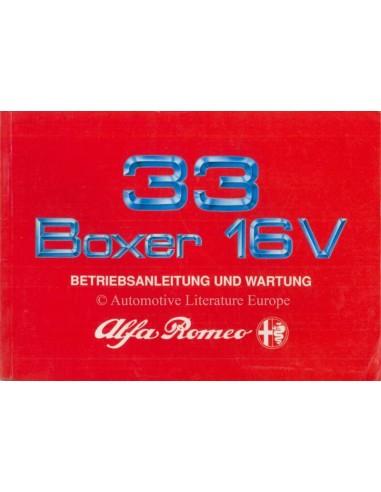 1990 ALFA ROMEO 33 BOXER 16V INSTRUCTIEBOEKJE DUITS