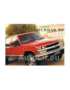 1999 HOLDEN SUBURBAN V8 LEAFLET AUSTRALISCH