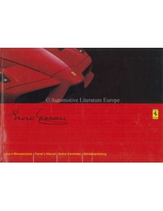 2003 FERRARI ENZO OWNERS MANUAL 1855/03