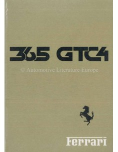 1971 FERRARI 365 GTC/4 OWNERS MANUAL HANDBOOK 54/71