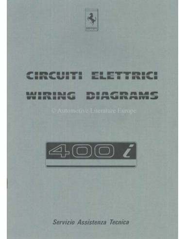 1983 FERRARI 400I WIRING DIAGRAM REPAIR MANUAL 291/83 on ferrari 308 gts, ferrari 308 qv wiring,