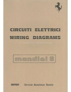 1981 FERRARI MONDIA 8 WIRING DIAGRAM REPAIR MANUAL 223/81