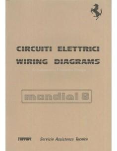 1981 FERRARI MONDIAL 8 ELECTRISCHE SCHEMA'S REPARATIE HANDLEIDING 223/81
