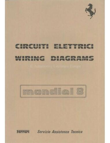 1981 FERRARI MONDIA 8 WIRING DIAGRAM REPAIR MANUAL 223/81