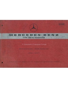 1963 MERCEDES BENZ 300 SL ROADSTER ERSATZTEILLISTE DEUTSCH ENGLISCH