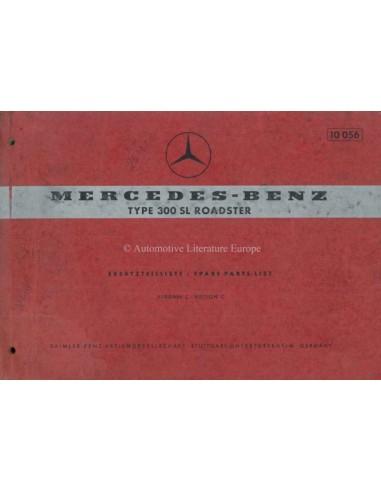 1963 MERCEDES BENZ 300 SL ROADSTER ONDERDELENLIJST DUITS ENGELS