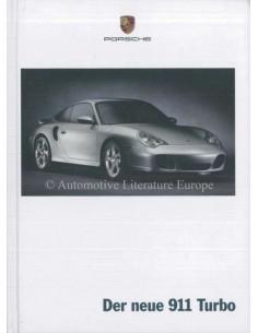 2000 PORSCHE 911 TURBO HARDCOVER PROSPEKT DEUTSCH