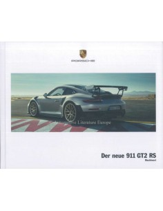 2018 PORSCHE 911 GT2 RS HARDBACK BROCHURE GERMAN