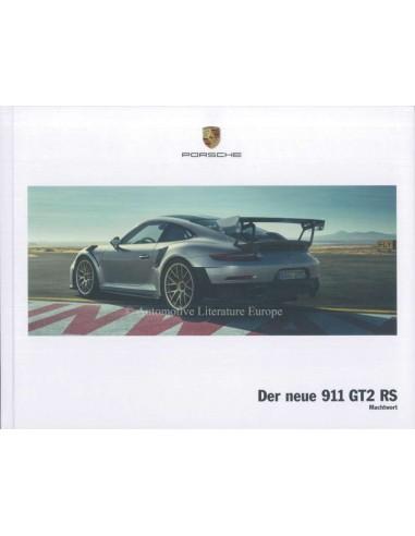 2018 PORSCHE 911 GT2 RS HARDBACK BROCHURE GERMAN
