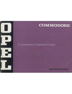 1972 OPEL COMMODORE BETRIEBSANLEITUNG NIEDERLÄNDISCH