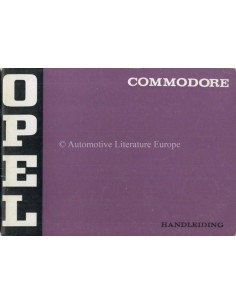 1972 OPEL COMMODORE OWNERS MANUAL DUTCH