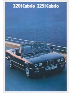 1989 BMW 3 SERIES CONVERTIBLE BROCHURE DUTCH
