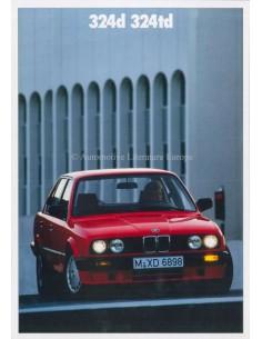 1989 BMW 3ER DIESEL PROSPEKT NIEDERLÄNDISCH