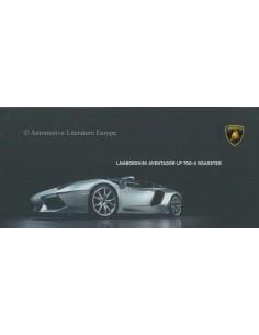 2012 LAMBORGHINI AVENTADOR ROADSTER LP 700-4 BROCHURE ENGLISH