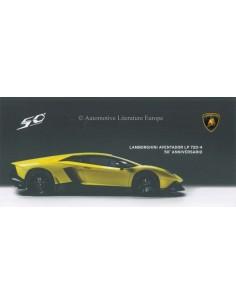 2013 LAMBORGHINI AVENTADOR LP 720-4 50° ANNIVERSARIO BROCHURE ENGLISH