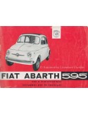 1963 FIAT ABARTH 595 OWNERS MANUAL ITALIAN