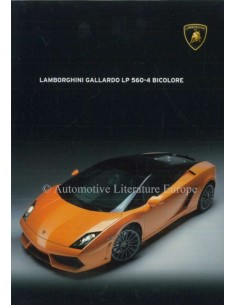 2011 LAMBORGHINI GALLARDO LP 560-4 BICOLORE BROCHURE ENGLISH