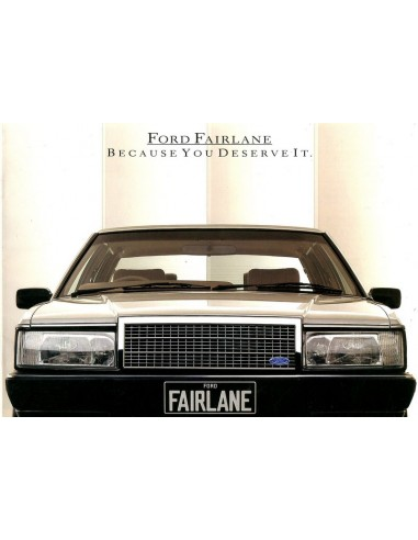 1986 FORD FAIRLANE BROCHURE ENGELS