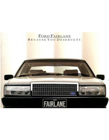 1986 FORD FAIRLANE BROCHURE ENGELS