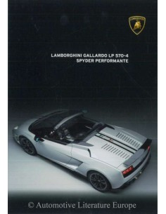 2012 LAMBORGHINI GALLARDO LP 570-4 SPYDER PERFORMANTE BROCHURE GERMAN
