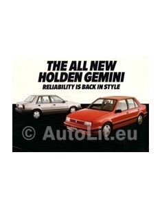 1985 HOLDEN GEMENI LEAFLET AUSTRALIEN