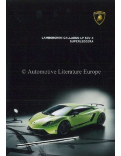 2012 LAMBORGHINI GALLARDO LP 570-4 SUPERLEGGERA BROCHURE ITALIAN