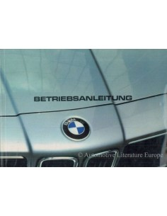1982 BMW 6 SERIES OWNERS MANUAL GERMAN