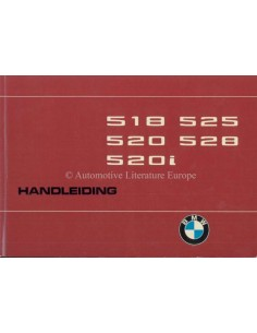 1975 BMW 5 SERIES OWNERS MANUAL DUTCH