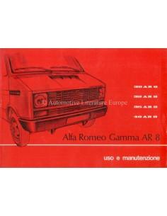 1978 ALFA ROMEO AR 8 BETRIEBSANLEITUNG