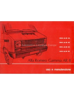 1978 ALFA ROMEO AR 8 OWNERS MANUAL